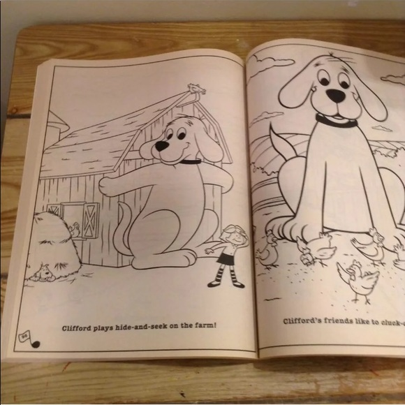 Scholastic Toys Clifford The Big Red Dog Coloring Book Unused Poshmark